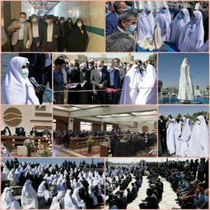 برگزاری مراسم رونمایی از تندیس زن چادر سفید